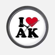 I Love Alaska ~  Wall Clock