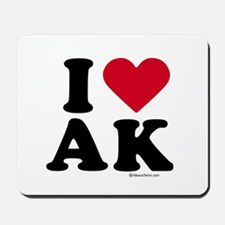 I Love Alaska ~  Mousepad