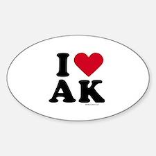 I Love Alaska ~ Oval Decal
