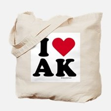 I Love Alaska ~  Tote Bag