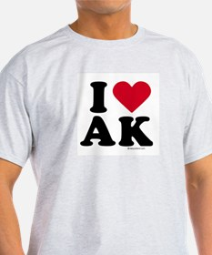 I Love Alaska ~  Ash Grey T-Shirt