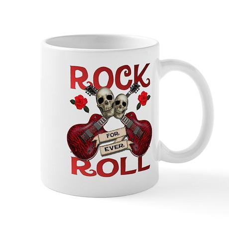 Rock N' Roll 4 Ever Rose Leaf Mug