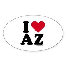 I Love Arizona ~ Oval Decal