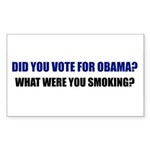 What were you smoking? Rectangle Sticker 10 pk)