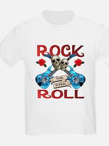 Rock N' Roll 4 Ever Blue Guit T-Shirt