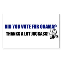 Thanks a lot jackass! Rectangle Decal