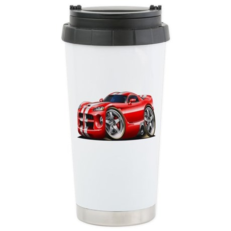 Viper GTS Red Car Stainless Steel Travel Mug