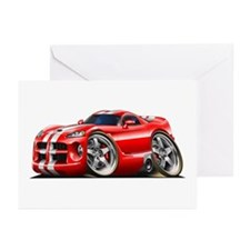 Viper GTS Red Car Greeting Cards (Pk of 10)
