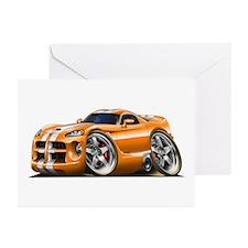 Viper GTS Orange Car Greeting Cards (Pk of 10)