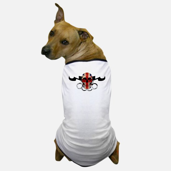 MMA UK Flag Skull & Brass Knu Dog T-Shirt