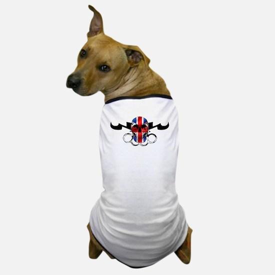 MMA United Kingdom Flag Skull Dog T-Shirt