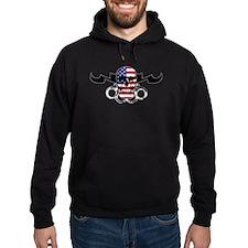 MMA USA Flag Skull & Brass Kn Hoodie