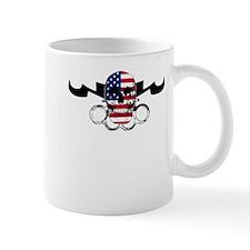 MMA USA Flag Skull & Brass Kn Mug