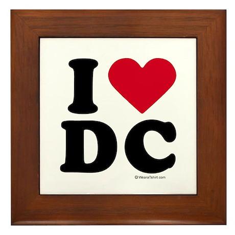 I Love DC ~ Framed Tile