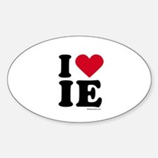 I Love the Inland Empire ~ Oval Decal