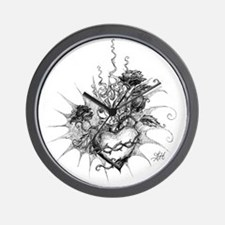 Unique Hand drawn Wall Clock