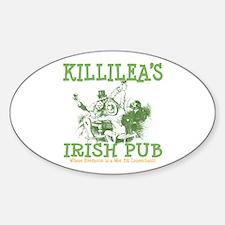 Killilea's Irish Pub Oval Decal
