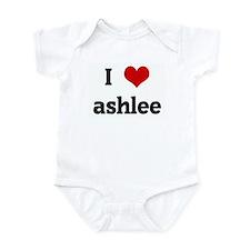 I Love ashlee Onesie
