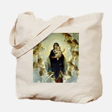 Unique Bouguereau the virgin with angels Tote Bag