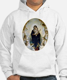 Unique Bouguereau the virgin with angels Hoodie