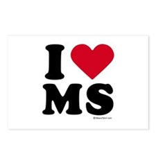 I Love Mississippi ~  Postcards (Package of 8)