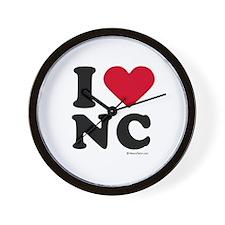 I Love North Carolina ~  Wall Clock