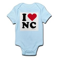 I Love North Carolina ~  Infant Creeper