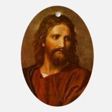 Unique Jesus Oval Ornament