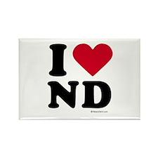I Love North Dakota ~ Rectangle Magnet