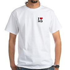 I Love North Dakota ~ White T-shirt
