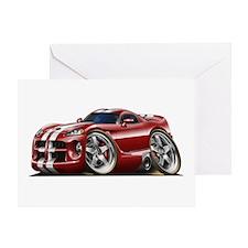 Viper GTS Maroon Car Greeting Card