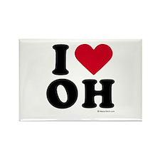 I Love Ohio ~ Rectangle Magnet