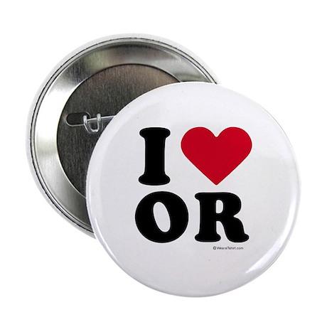 "I Love Oregon ~ 2.25"" Button (10 pack)"
