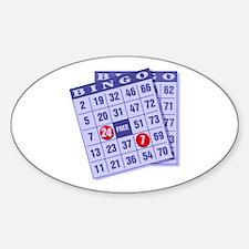 Bingo 24/7 Oval Decal