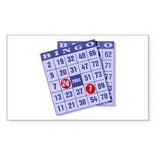 Bingo 24/7 Rectangle Sticker