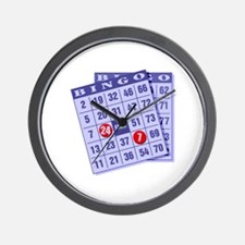 Bingo 24/7 Wall Clock