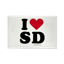 I Love San Diego ~ Rectangle Magnet