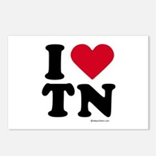 I Love Tennessee ~  Postcards (Package of 8)