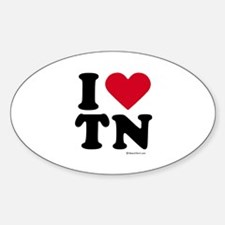 I Love Tennessee ~ Oval Decal