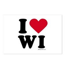 I Love Wisconsin ~  Postcards (Package of 8)