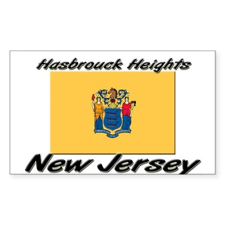 Hasbrouck Heights New Jersey Rectangle Sticker