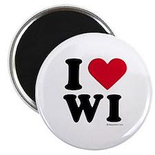 I Love Wisconsin ~ Magnet