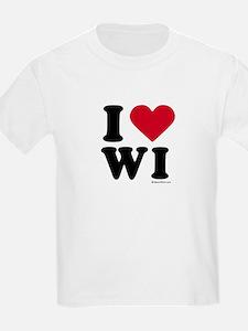 I Love Wisconsin ~  Kids T-Shirt