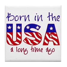 born in the USA Tile Coaster