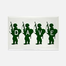 Army Men: Dave Rectangle Magnet