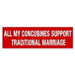 All My Concubines Bumper Sticker