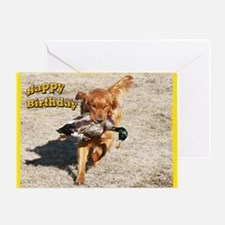 Golden Retriever Hunting Greeting Card