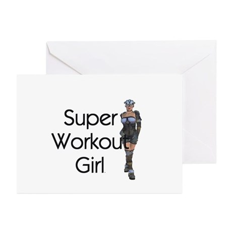TOP Super Workout Girl Greeting Cards (Pk of 10)