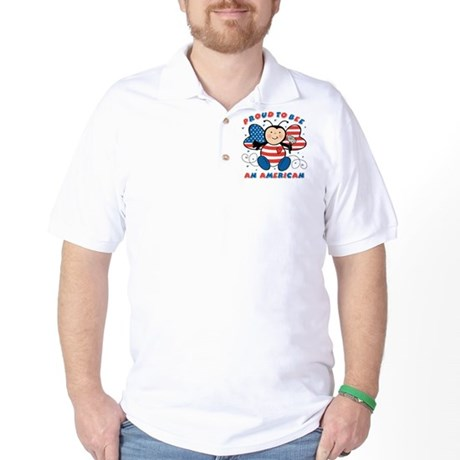 Proud To Bee American Golf Shirt