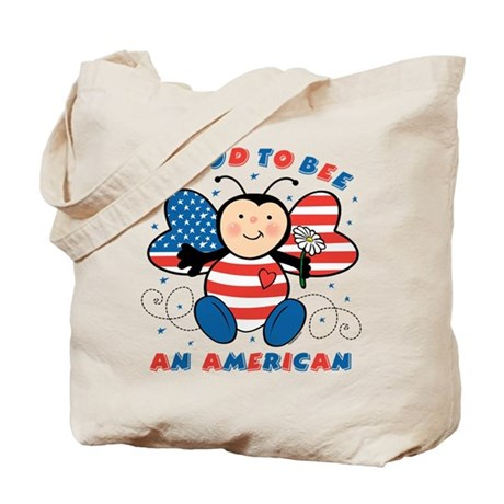 Proud To Bee American Tote Bag